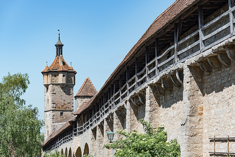 Le mura di Rothenburg in Germania