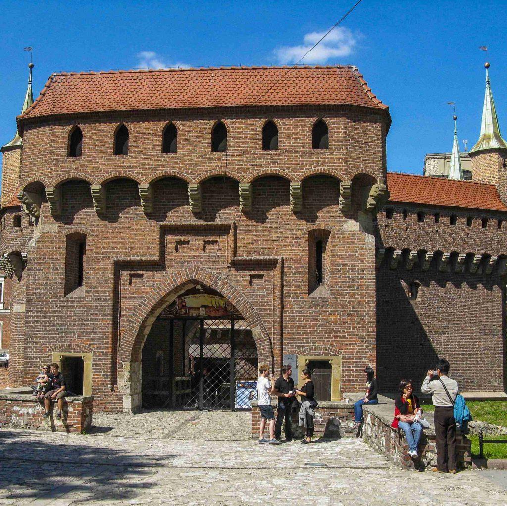 Centro storico di Cracovia: il Barbacane