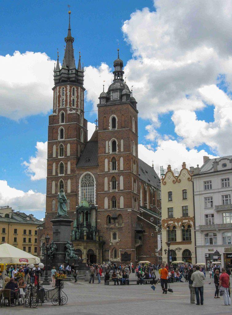 Centro storico di Cracovia: la Basilica di Santa Maria