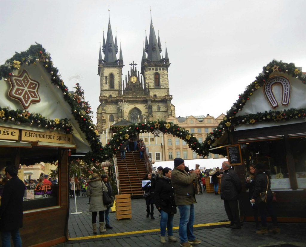 Mercatini di Natale di Praga: le casette di legno