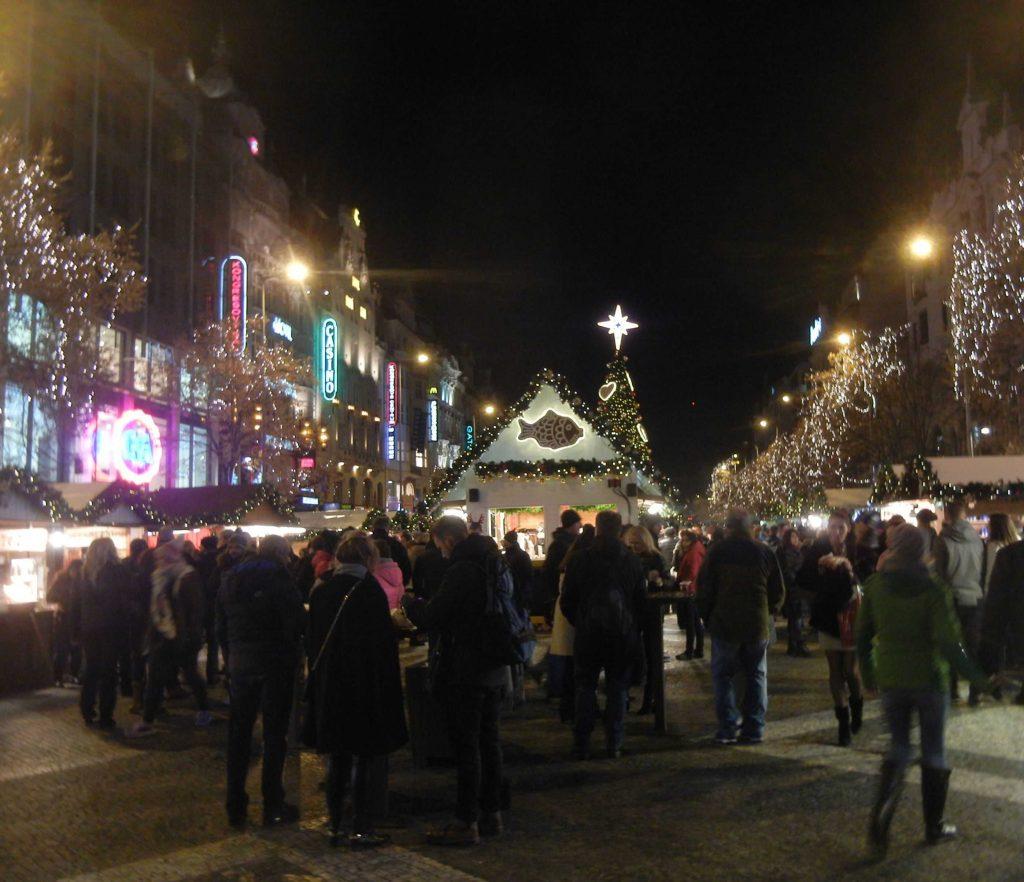 Mercatini di Natale di Praga: Piazza Venceslao