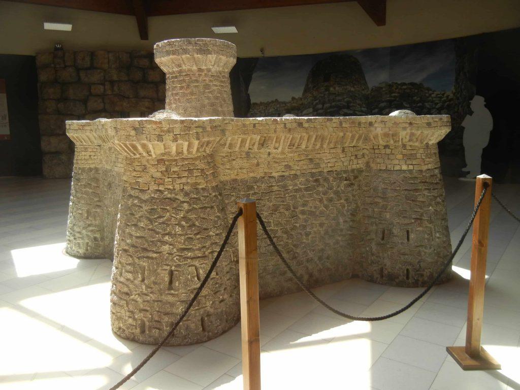 Modellino del nuraghe di Barumini al Centro Giovanni Lilliu