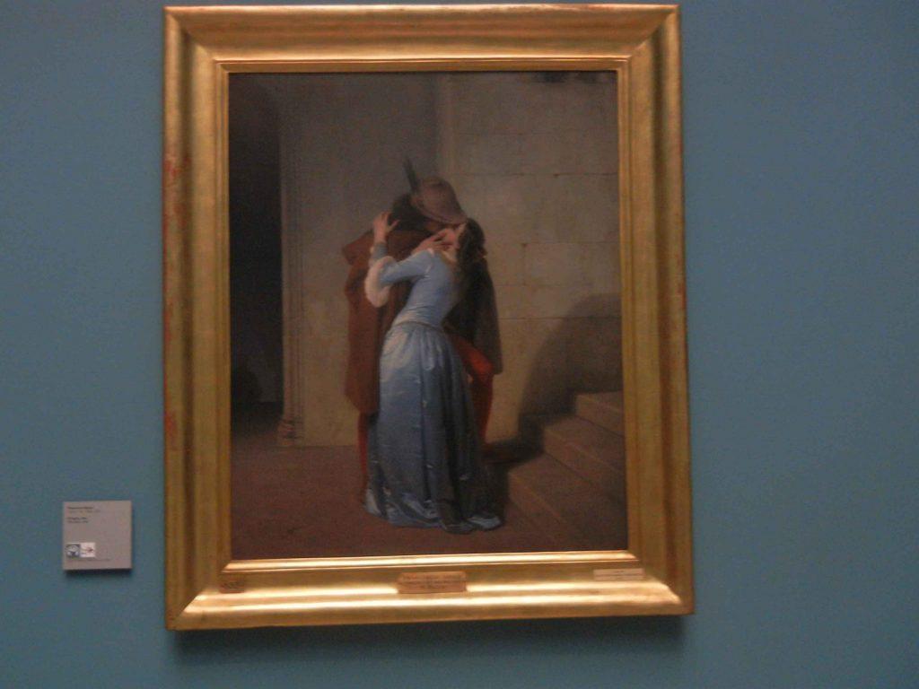 Pinacoteca di Brera: il bacio di Hayez