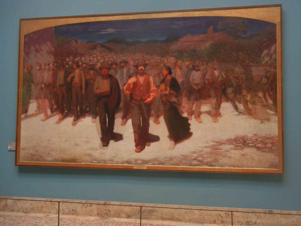 Pinacoteca di Brera: la Fiumana di Pelizza da Volpedo