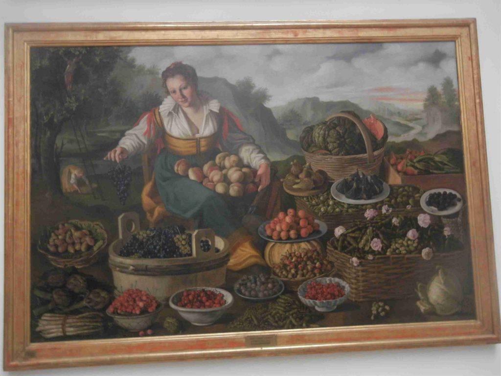 Pinacoteca di Brera di Milano: la fruttivendola di Vincenzo Campi
