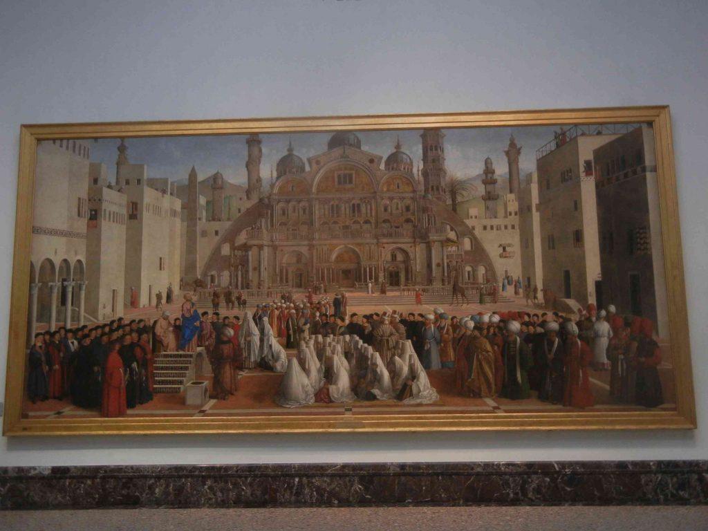 Pinacoteca di Brera di Milano: la predica di San Marco in Alessandria d'Egitto di Bellini