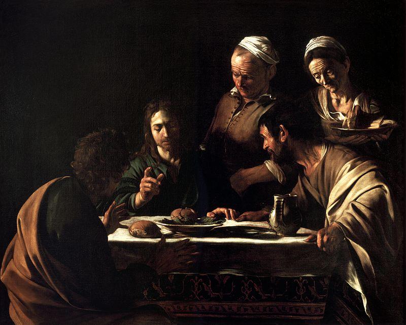Pinacoteca di Brera a Milano: la cena in Emmaus di Caravaggio