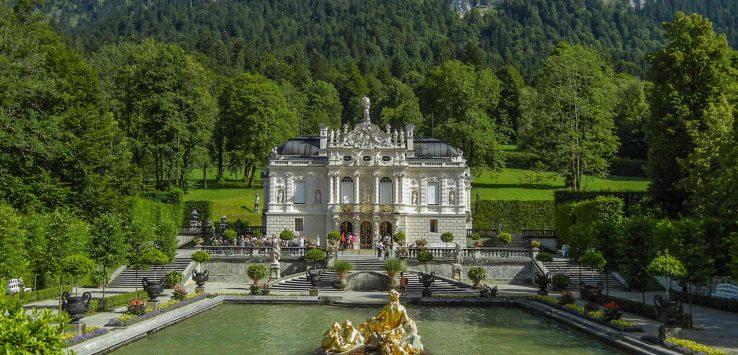 Castello di Linderhof: la facciata