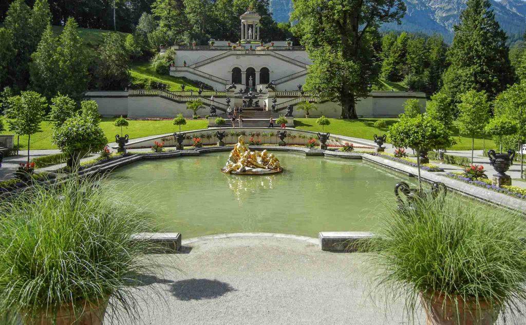 Castello di Linderhof: il giardino a terrazze