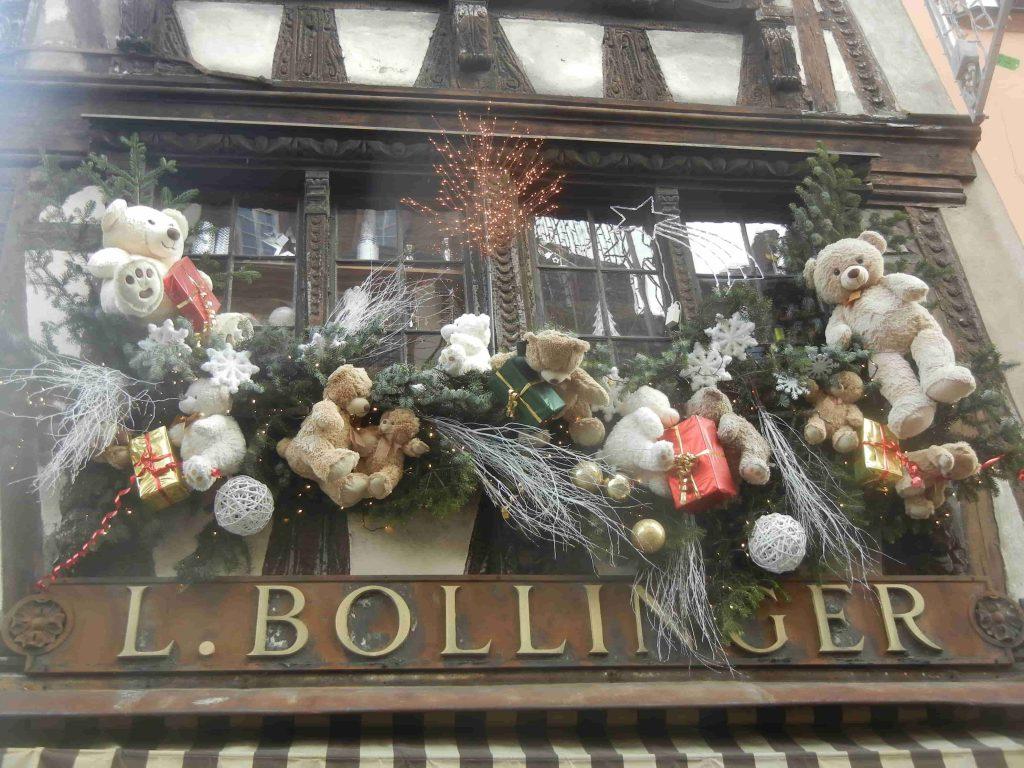 Le decorazioni di Natale del negozio Bollinger di Strasburgo