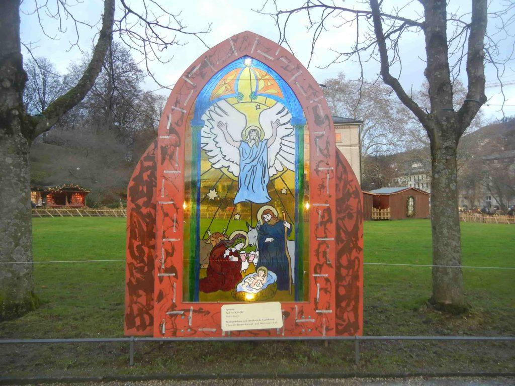 Finte vetrate di chiesa a Baden Baden