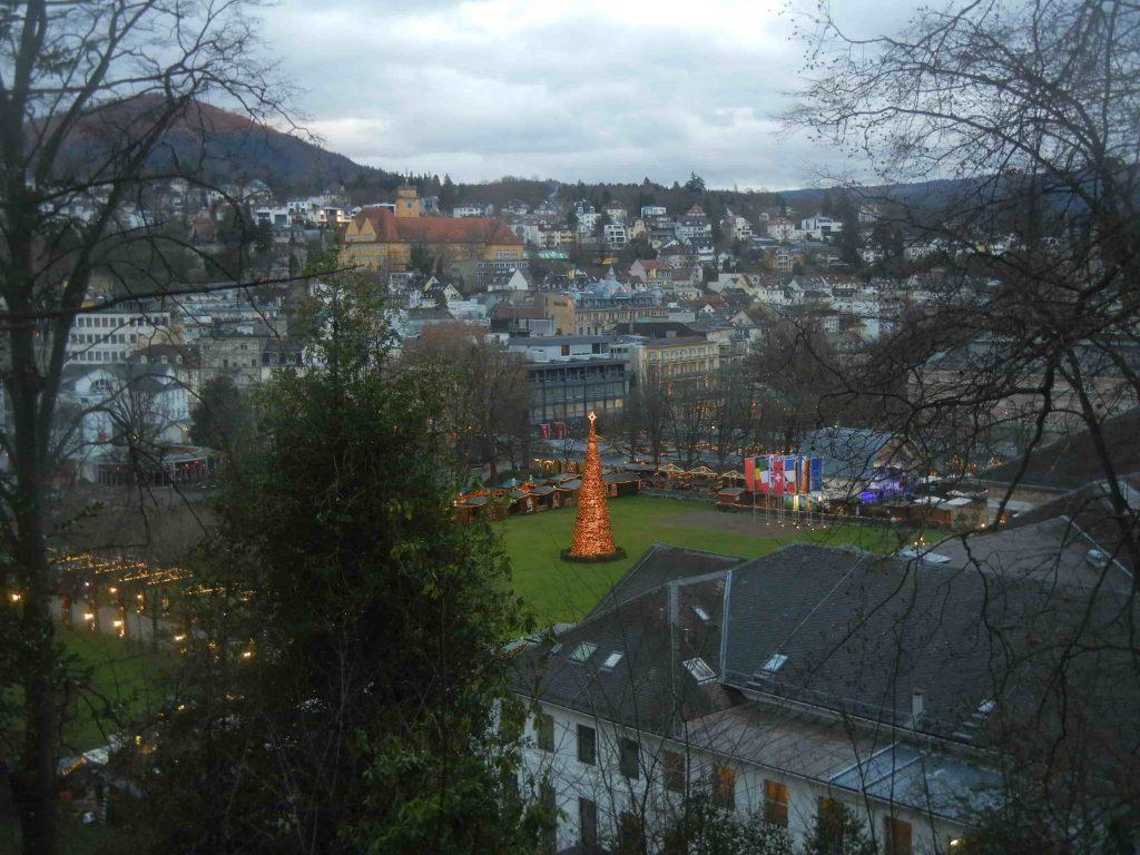 I mercatini di Baden Baden visti dall'alto