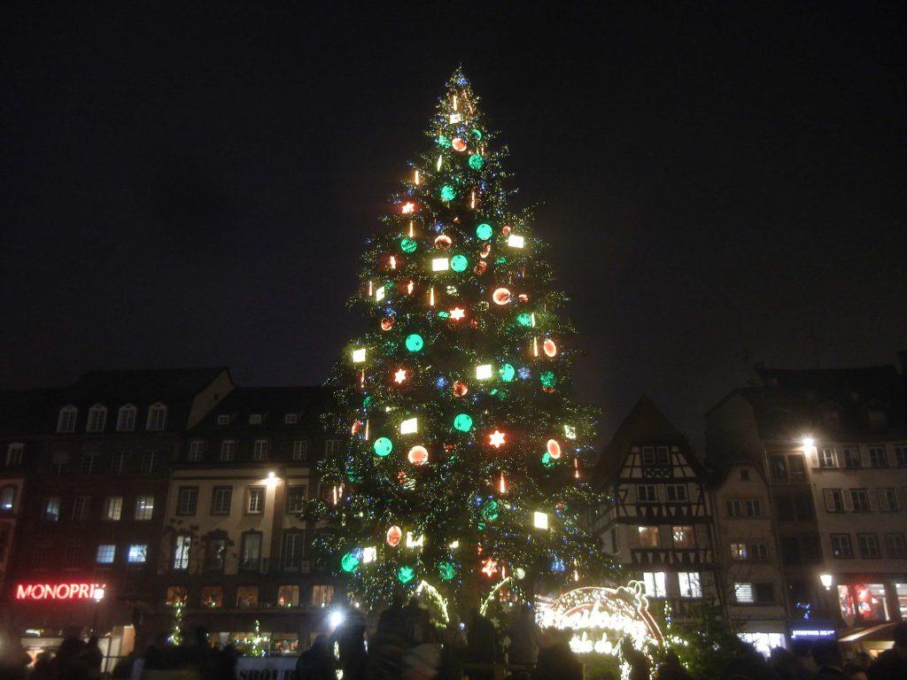 Mercatini di Strasburgo: l'albero di Natale di Place Kleber