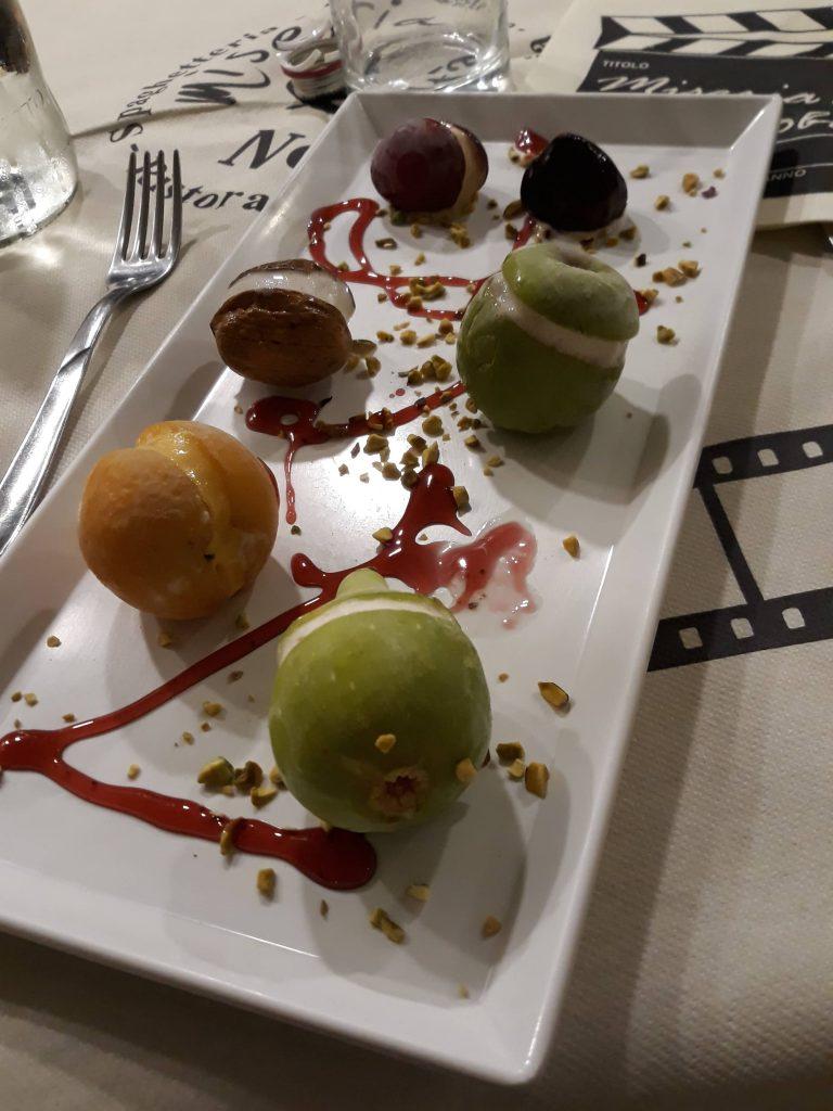 I fruttini del ristorante Miseria e Nobiltà a Matera