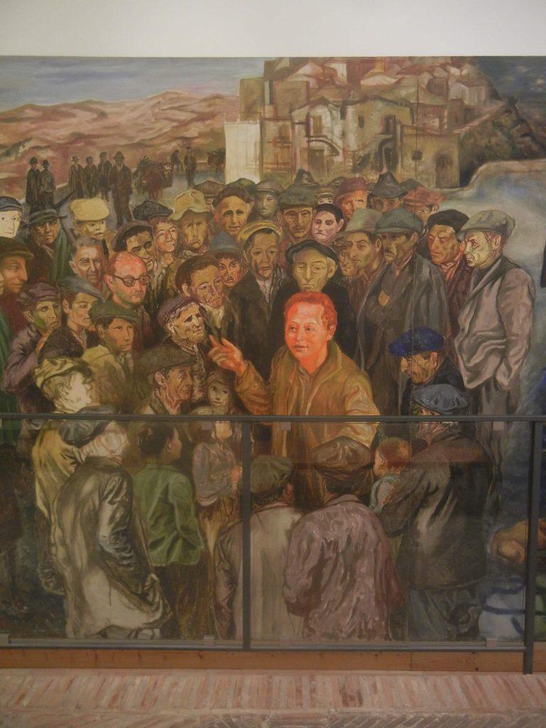Rocco Scotellaro nel quadro Lucania 61 di Carlo Levi