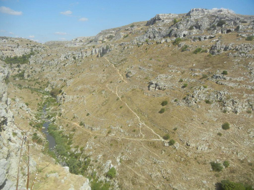 Il torrente del canyon della Gravina e il Parco della Murgia Materana
