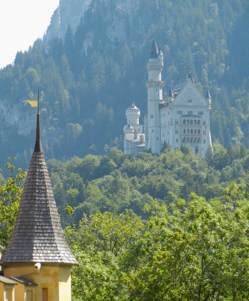 Il castello di Neuschwanstein nei dintorni di Fussen