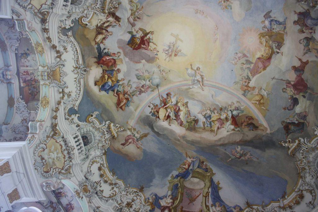 Soffitto del santuario di Wies in Baviera