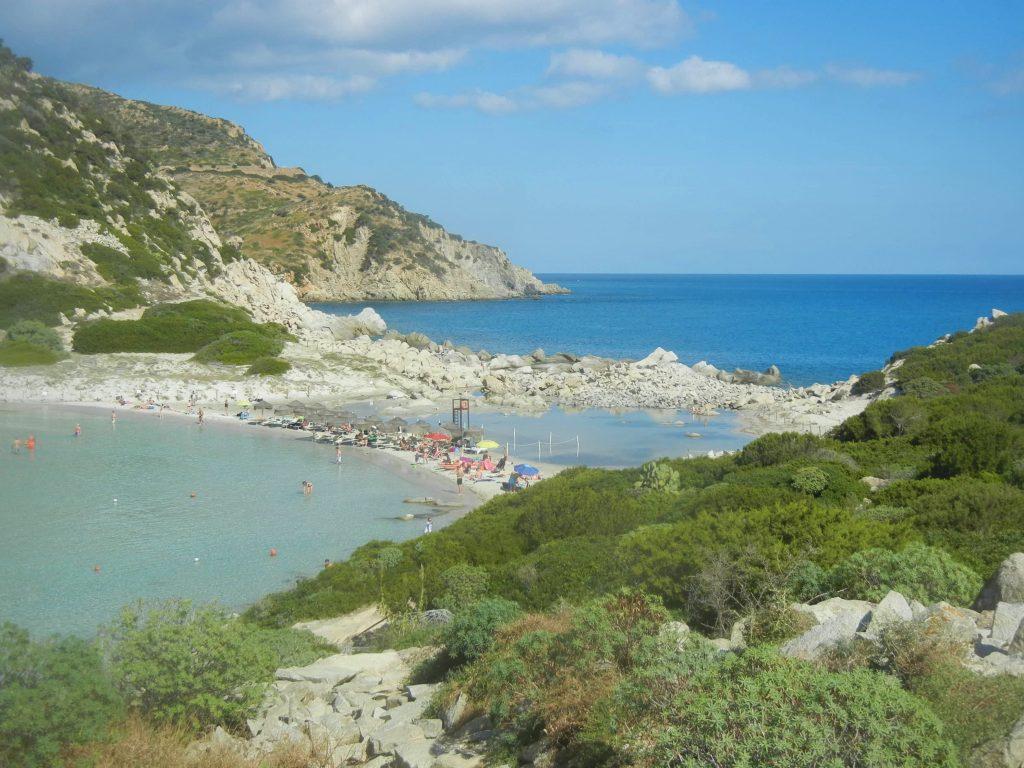 L'istmo della spiaggia di Punta Molentis