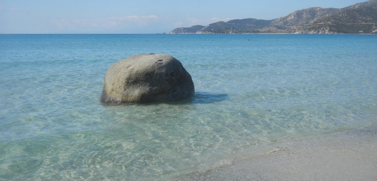La spiaggia di Campulongu a Villasimius
