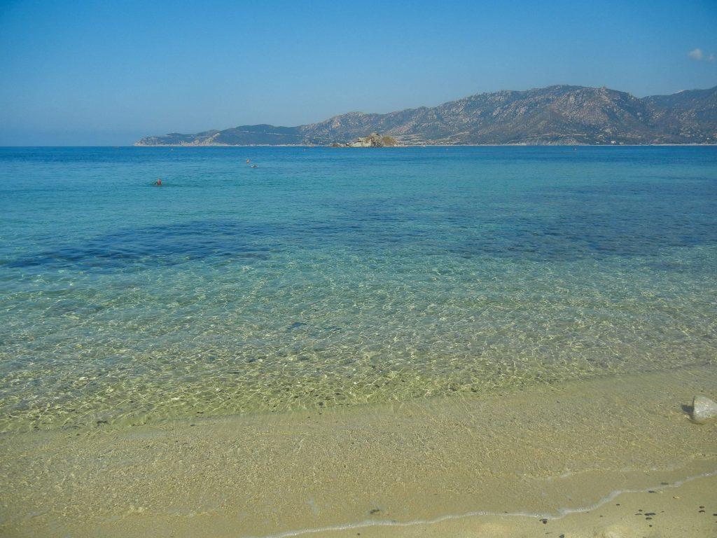 La spiaggia di Santo Stefano nell'area marina di Capo Carbonara